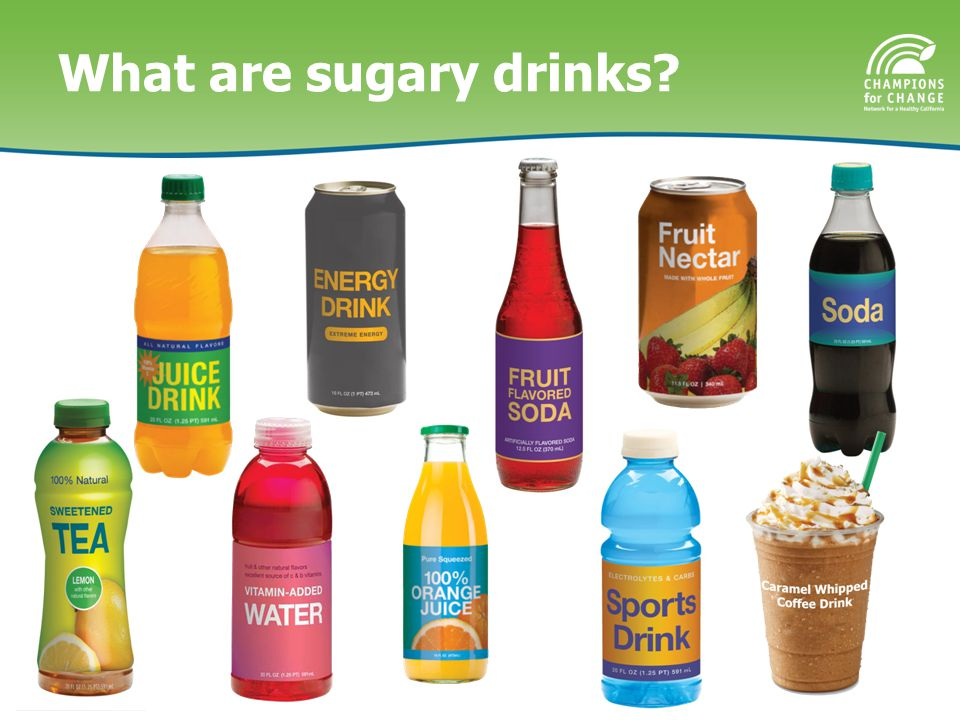 What are sugary drinks?