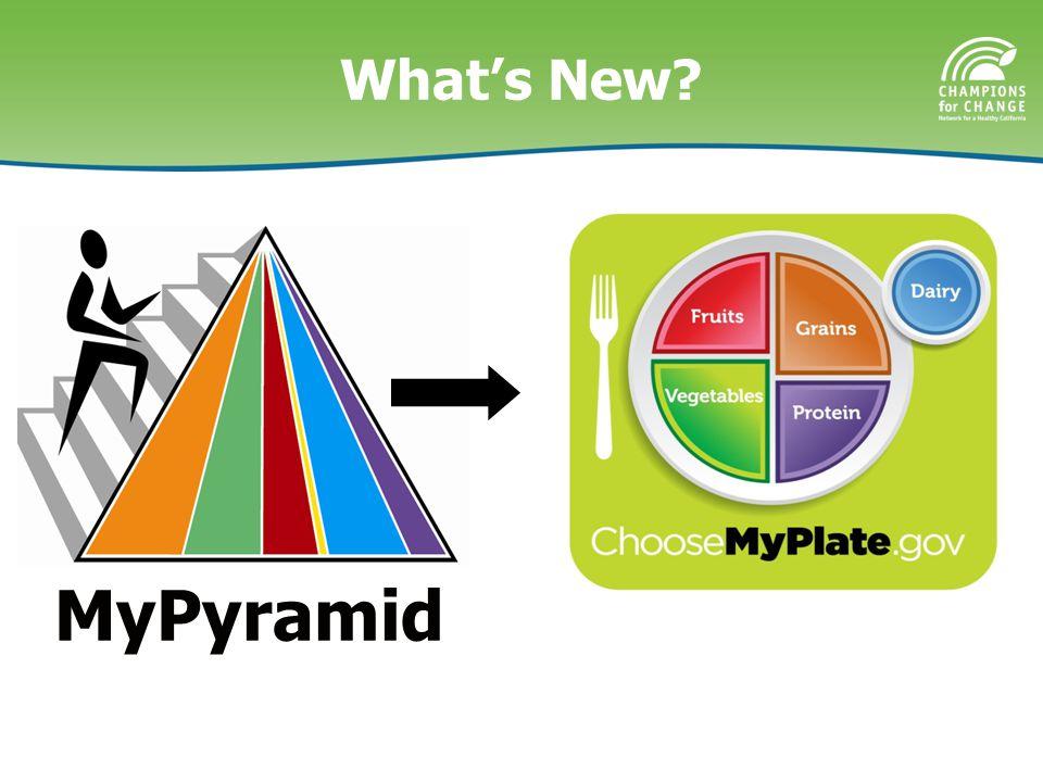 What's New MyPyramid