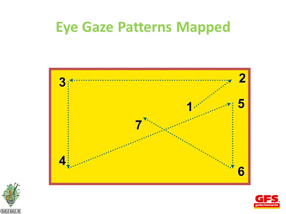 3 3 4 4 7 7 2 2 1 1 5 5 6 6 Eye Gaze Patterns Mapped 24