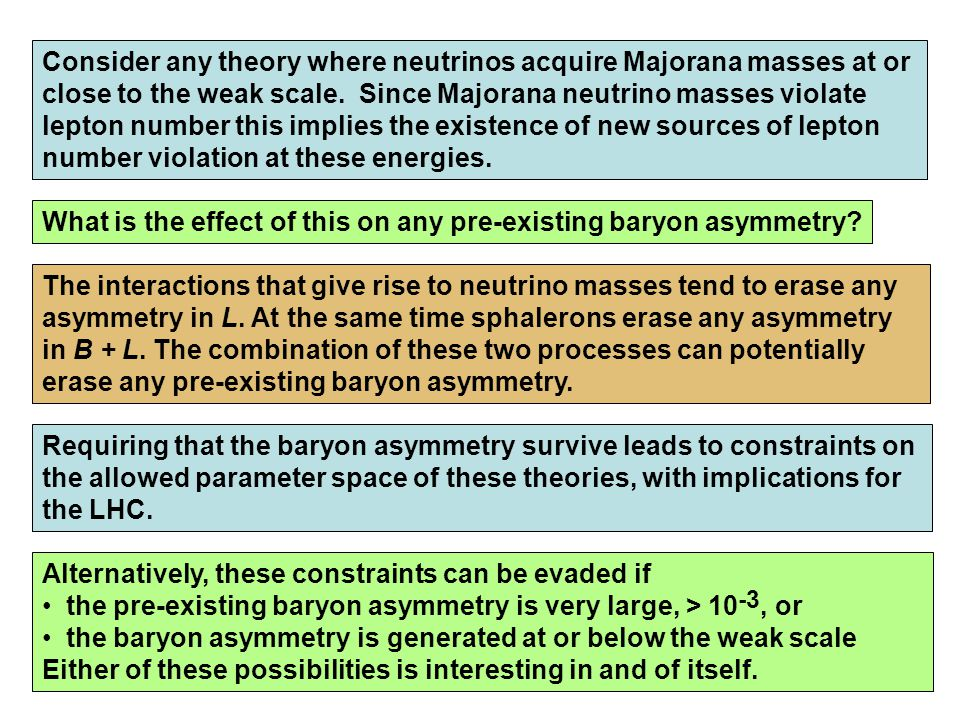Consider any theory where neutrinos acquire Majorana masses at or close to the weak scale.