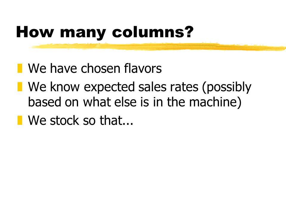 How many columns.