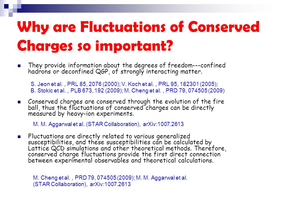 Why are Fluctuations of Conserved Charges so important.