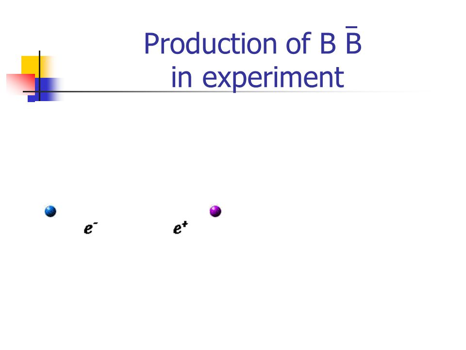 Production of B B in experiment