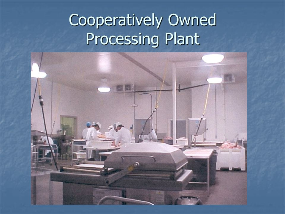 Cooperatively Owned Processing Plant