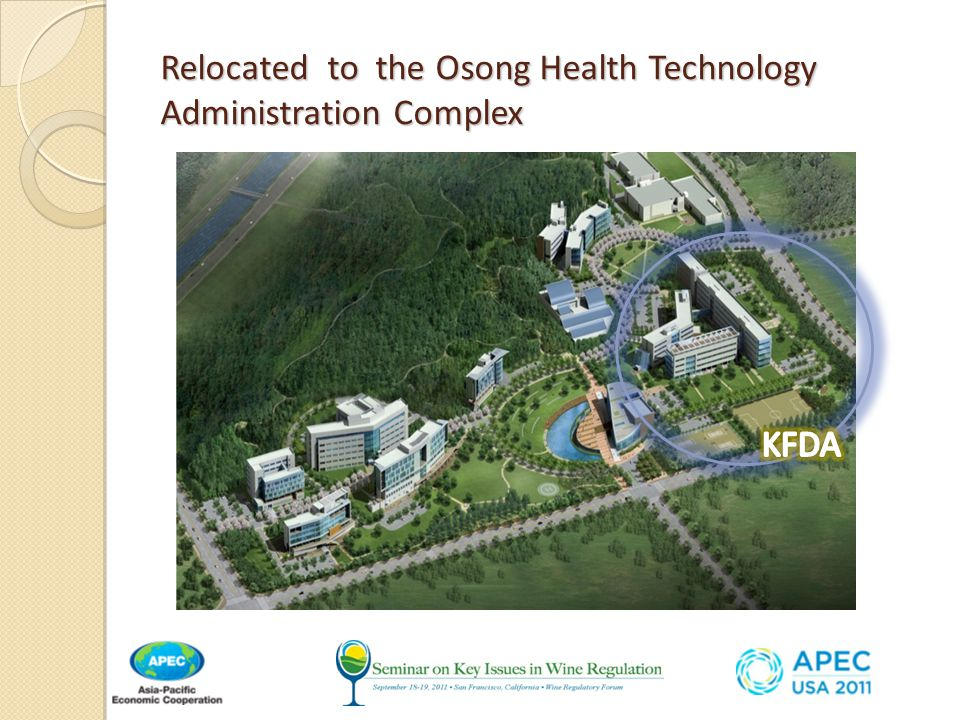 Relocated to the Osong Health Technology Administration Complex