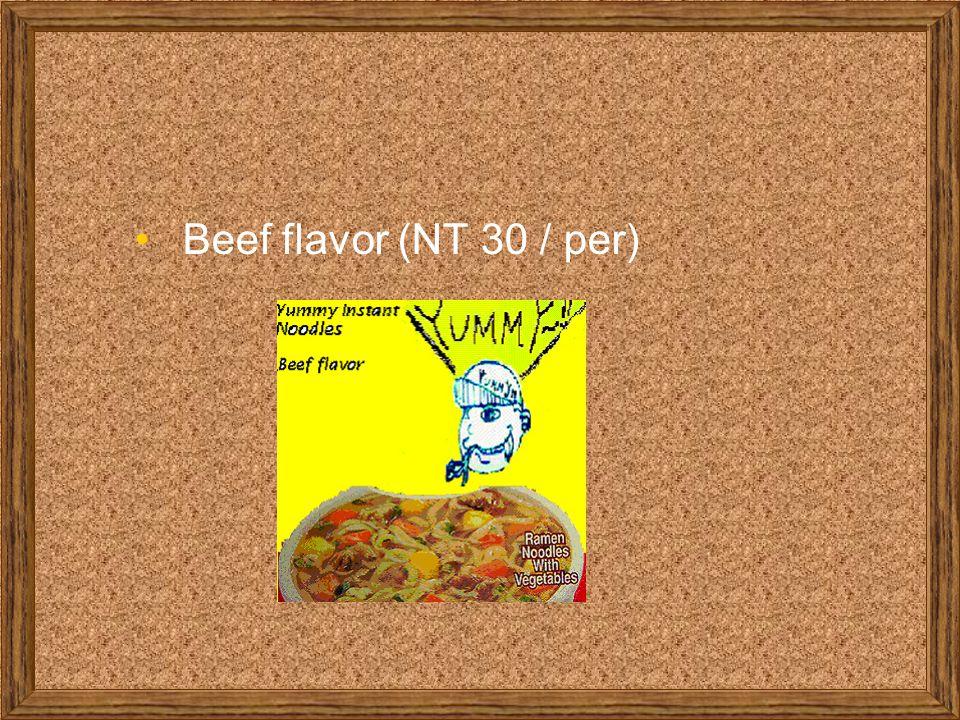 Beef flavor (NT 30 / per)