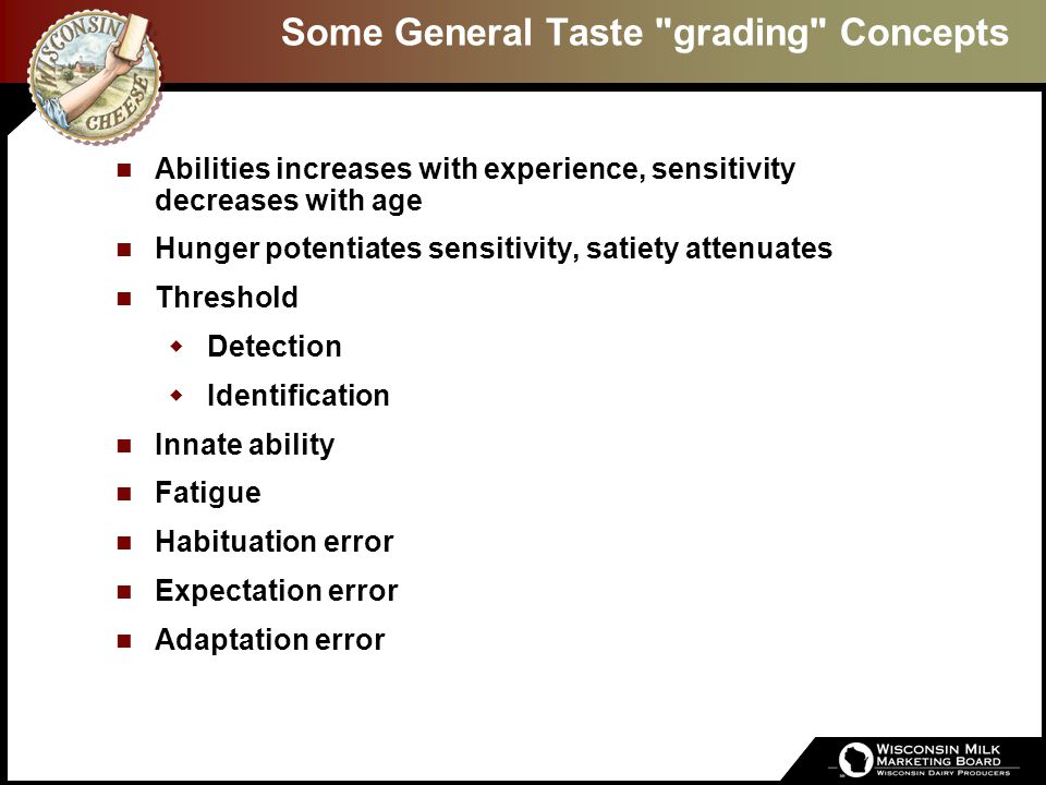 Introduction Why Sensory Evaluation. Only test of eating quality -F.W.