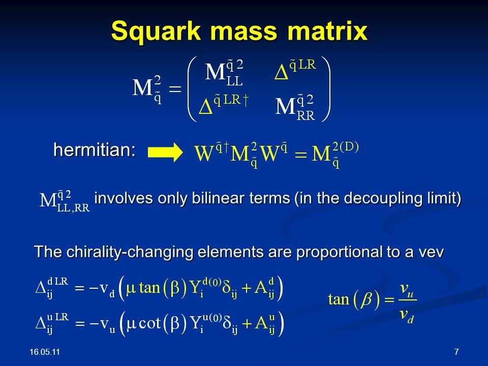 16.05.11 8 Mass insertion approximation (L.J.Hall, V.A.