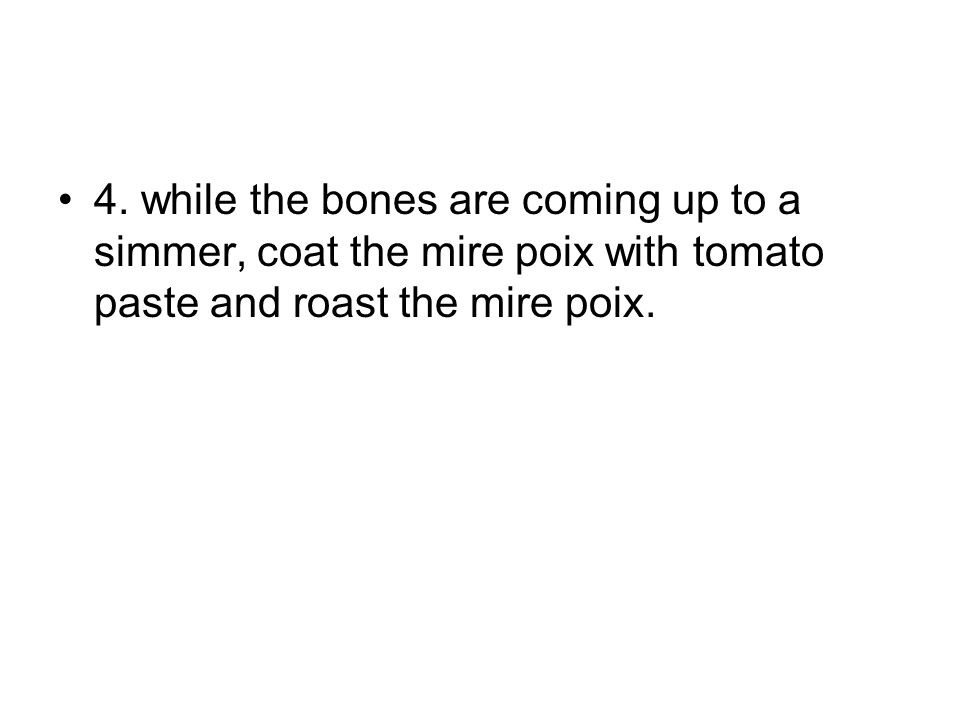 3. Add the bones into cold water.