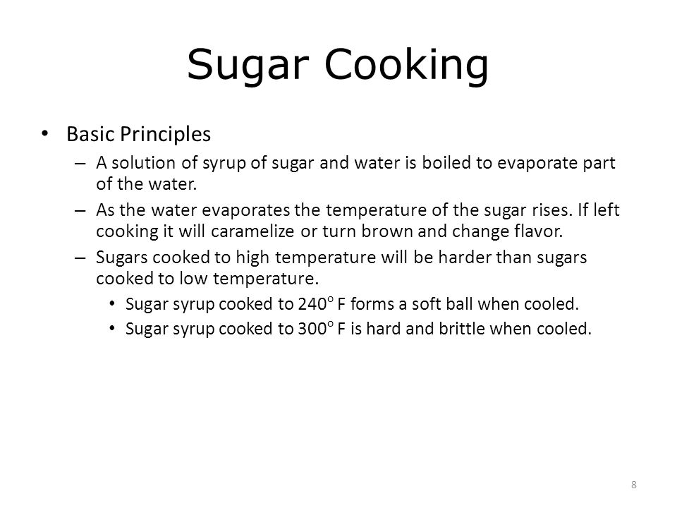 9 Simple Syrup Equal weights of sugar and water.