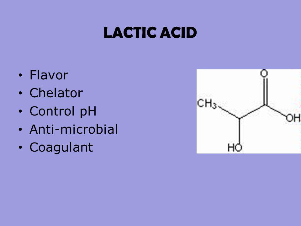 LACTIC ACID Flavor Chelator Control pH Anti-microbial Coagulant