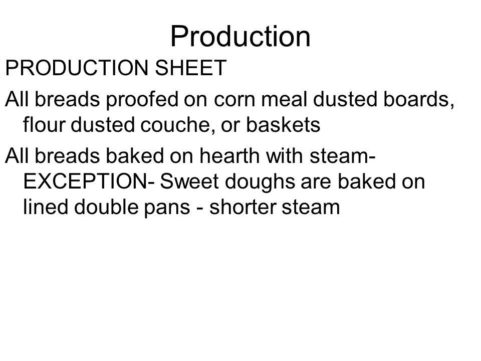 Yeasted pre-ferments Liquid: Poolish- 100% hydration Stiff: Sponge (60-65%),Biga (50-55%) Pate Fermentee- old dough- usually contains salt