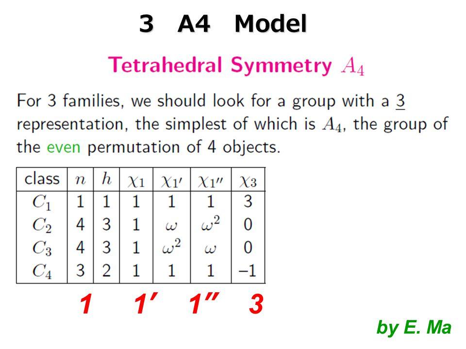 by E. Ma 1 1' 1 3 3 A4 Model
