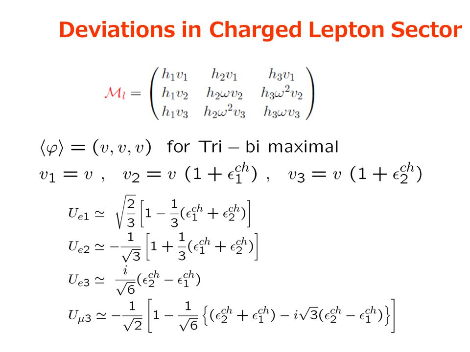 Deviations in Charged Lepton Sector