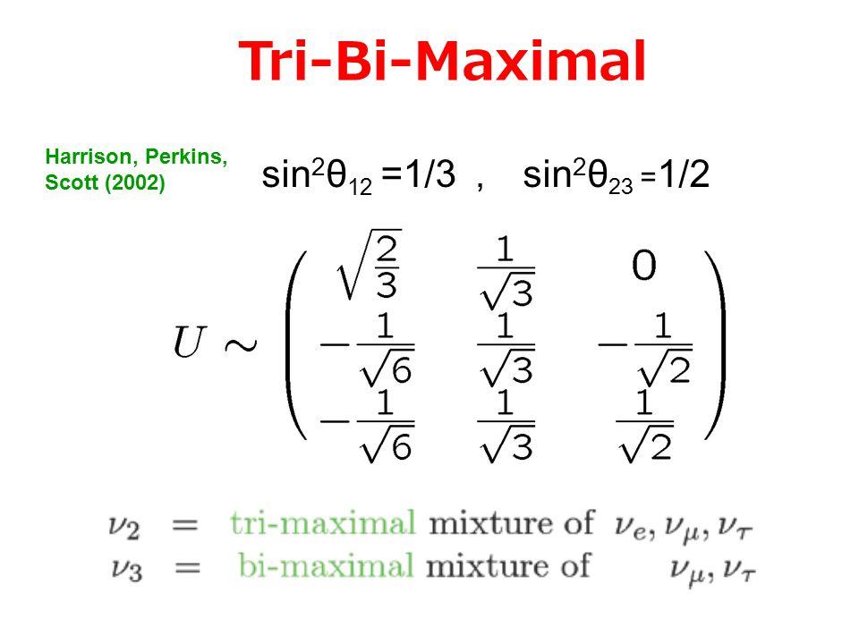 Neutrino Mixing closes to Tri-bi maximal mixing .