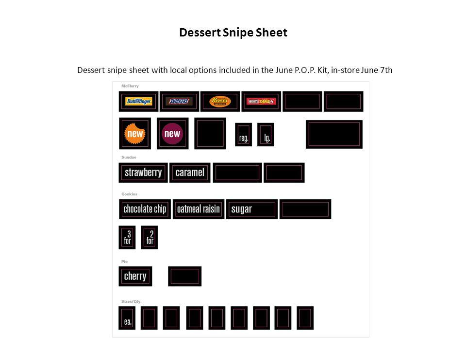 2010 4 th Flavor Dessert Online Order Form Step 1: Identify which dessert P.O.P.