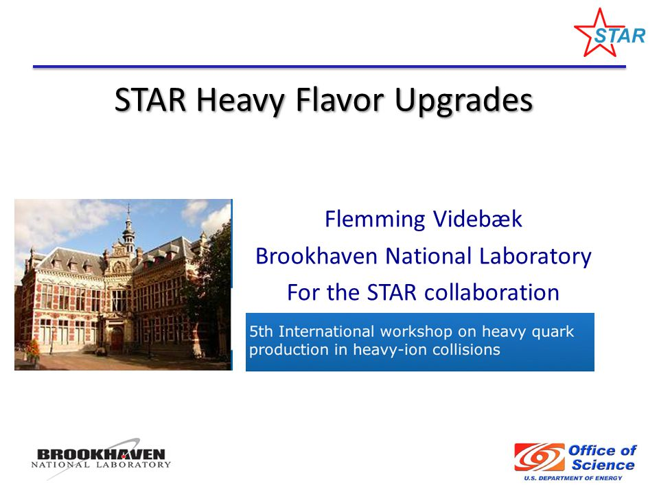 STAR Heavy Flavor Upgrades Flemming Videbæk Brookhaven National Laboratory For the STAR collaboration