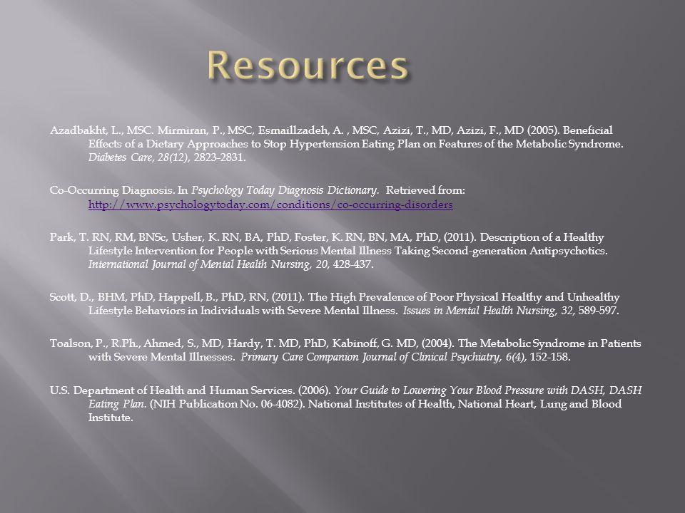 Azadbakht, L., MSC. Mirmiran, P., MSC, Esmaillzadeh, A., MSC, Azizi, T., MD, Azizi, F., MD (2005).
