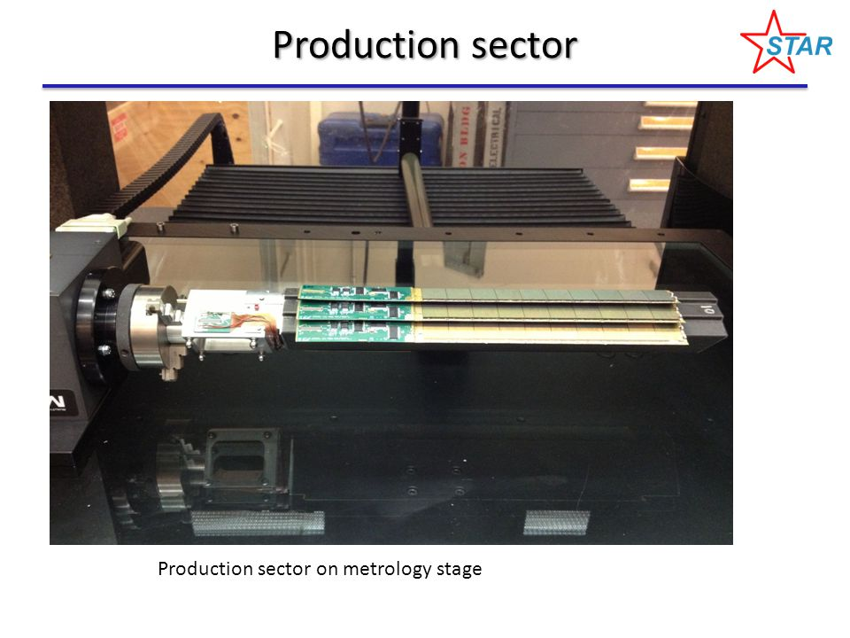 Production sector Production sector on metrology stage