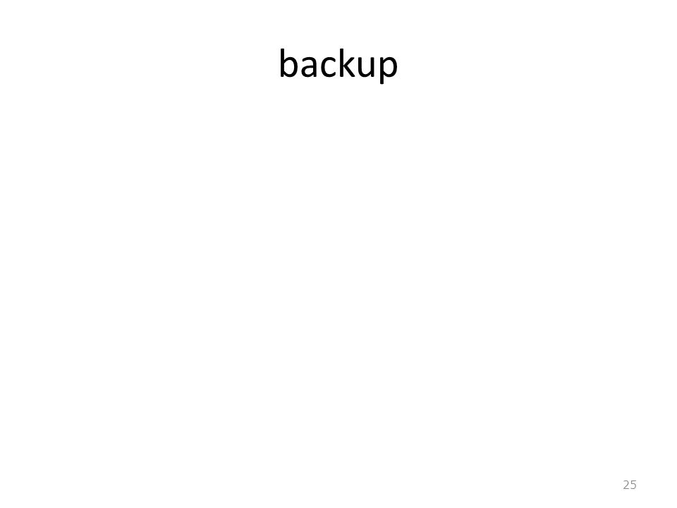 backup 25