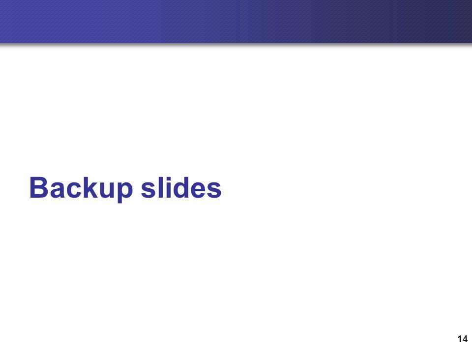 14 Backup slides