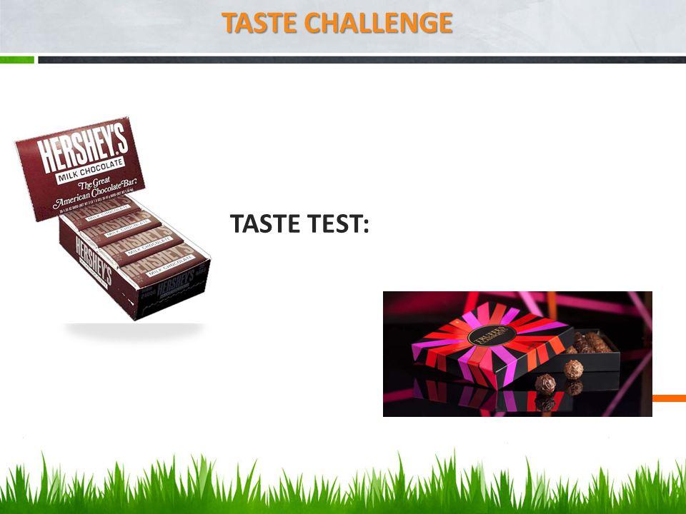 TASTE TEST: TASTE CHALLENGE