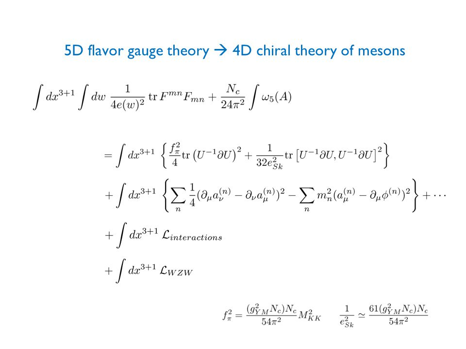 5D flavor gauge theory  4D chiral theory of mesons