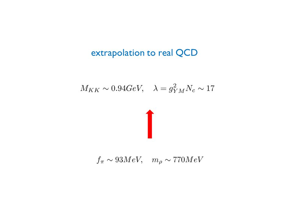 extrapolation to real QCD