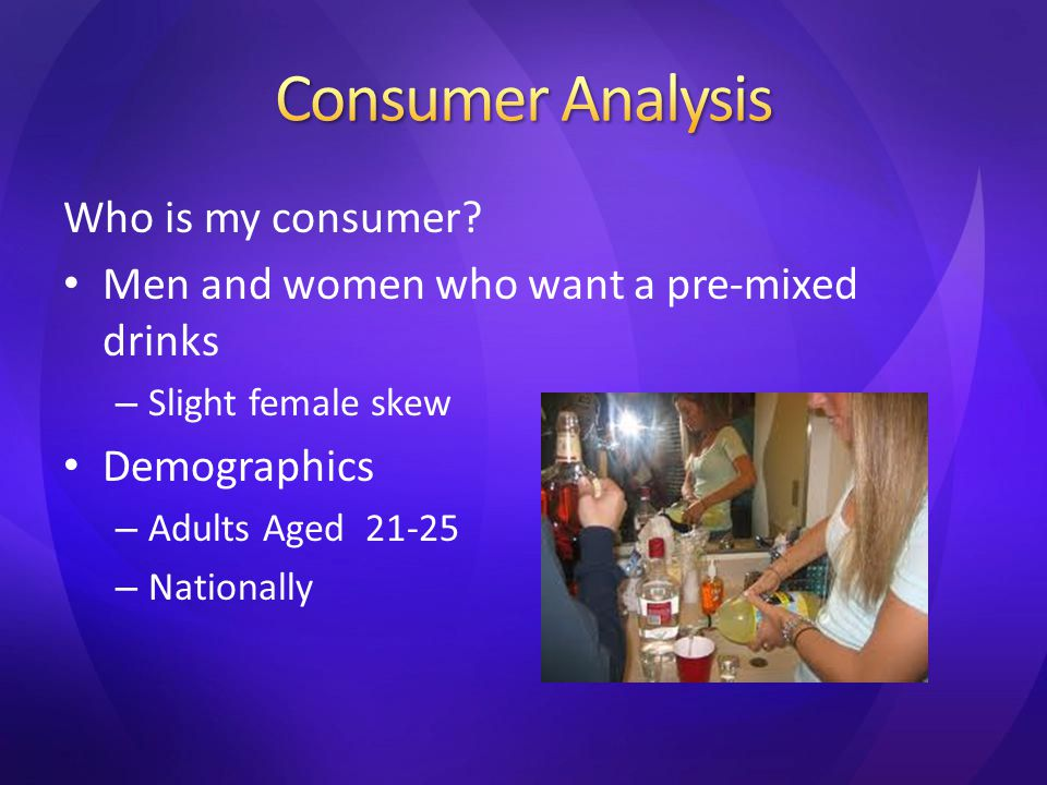 Psychographics – College Minded – Want a quick & easy fix – Consumers don't want to have to buy all individual elements Its easier.