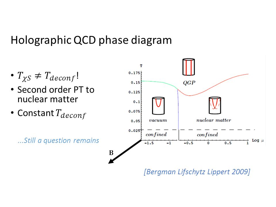 [Bergman Lifschytz Lippert 2009] Holographic QCD phase diagram...Still a question remains