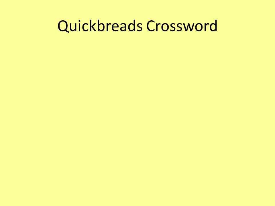 Quickbreads Crossword