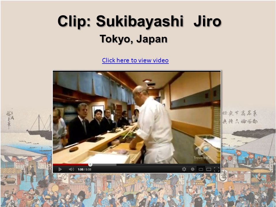 Click here to view video Clip: Sukibayashi Jiro Clip: Sukibayashi Jiro Tokyo, Japan