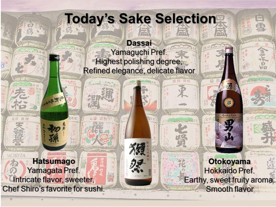 Today's Sake Selection Hatsumago Yamagata Pref.Yamagata Pref.