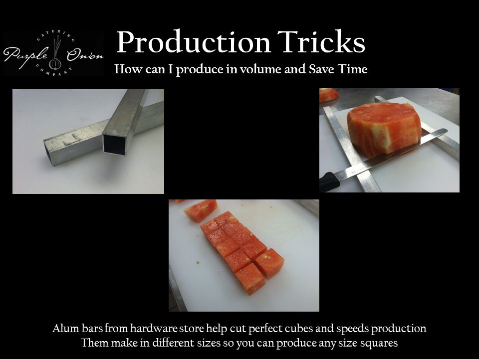 Production Tricks How can I produce in volume and Save Time Alum bars from hardware store help cut perfect cubes and speeds production Them make in different sizes so you can produce any size squares