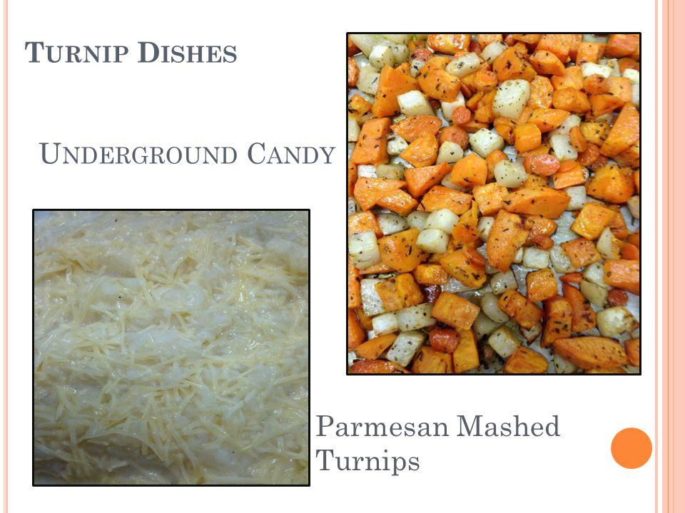 U NDERGROUND C ANDY Parmesan Mashed Turnips T URNIP D ISHES