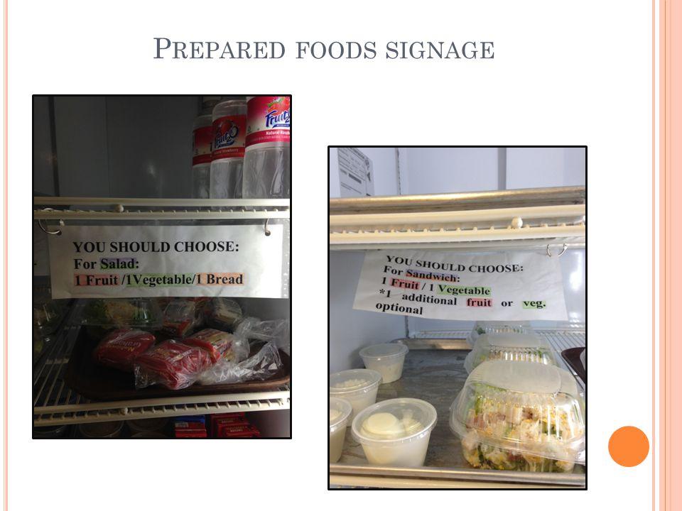 P REPARED FOODS SIGNAGE