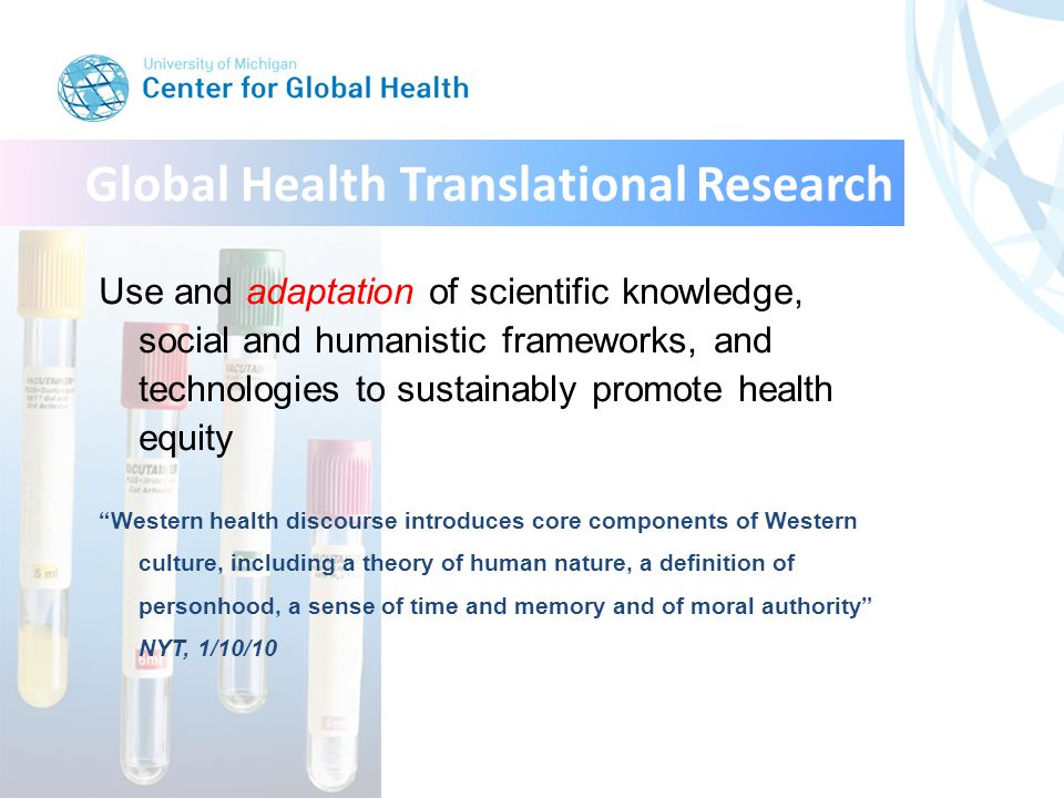 Translational global health research helps everyone YearstageIStageIIStageIIIStageIV UrbanRuralUrbanRuralUrbanRuralUrbanRural 19993.41.625.420.850522125 20043.54.131.339.241438.514.4 20065.73.340.140.646455.79.9 Change+60%+100%+58%+95%-8%-13%-73%-60% Over only 7 years, breast cancer has been down-staged in Egypt, a mid-resource country, by the most objective measure known: population registry with active registration & integrated program