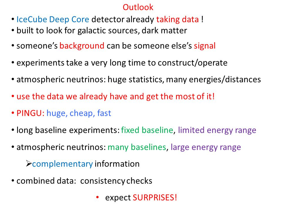 Outlook IceCube Deep Core detector already taking data .