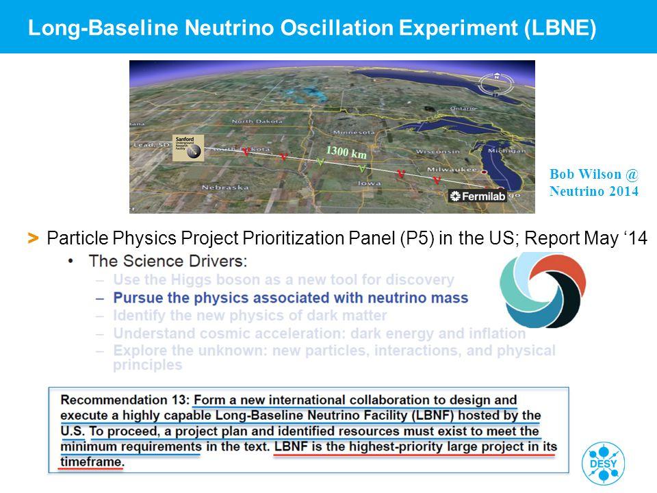 Walter Winter | DESY Seminar 2 | 10./18.06.2014 | Page 36 Long-Baseline Neutrino Oscillation Experiment (LBNE) > Particle Physics Project Prioritizati