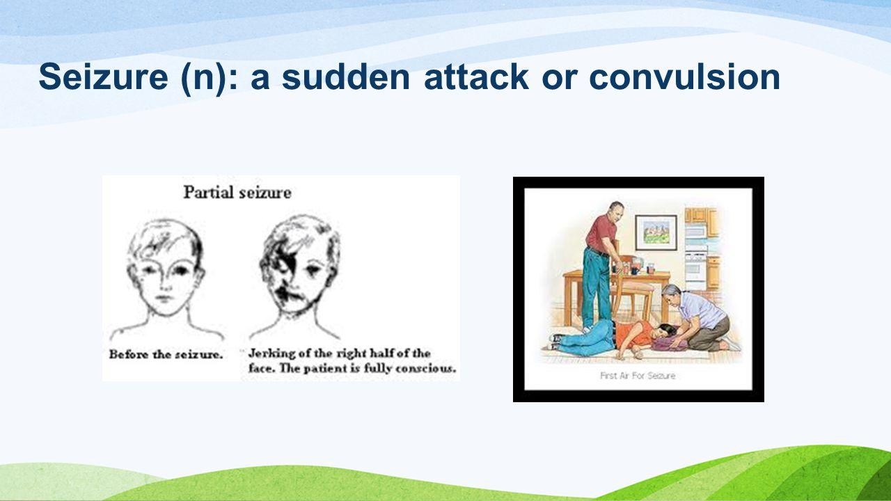 Seizure (n): a sudden attack or convulsion