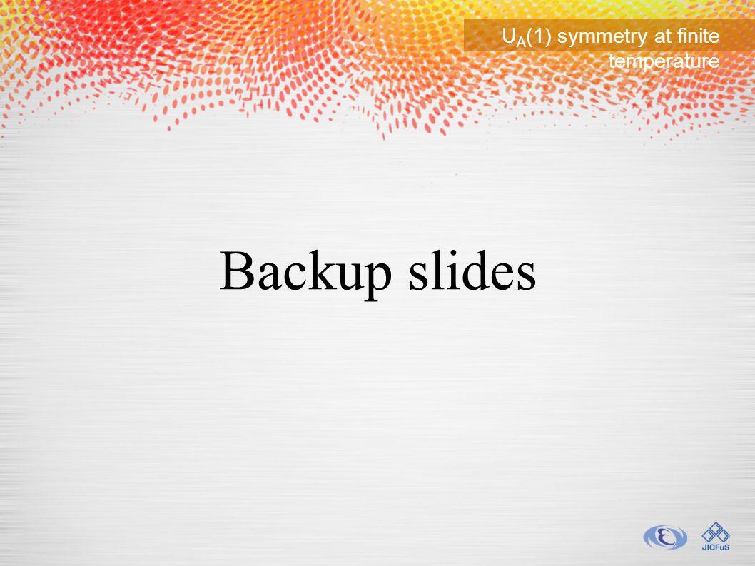 U A (1) symmetry at finite temperature Backup slides