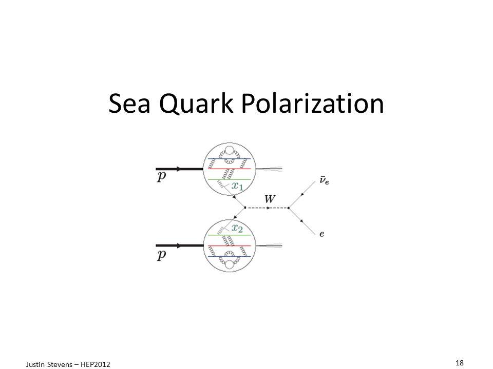 Sea Quark Polarization 18 Justin Stevens – HEP2012