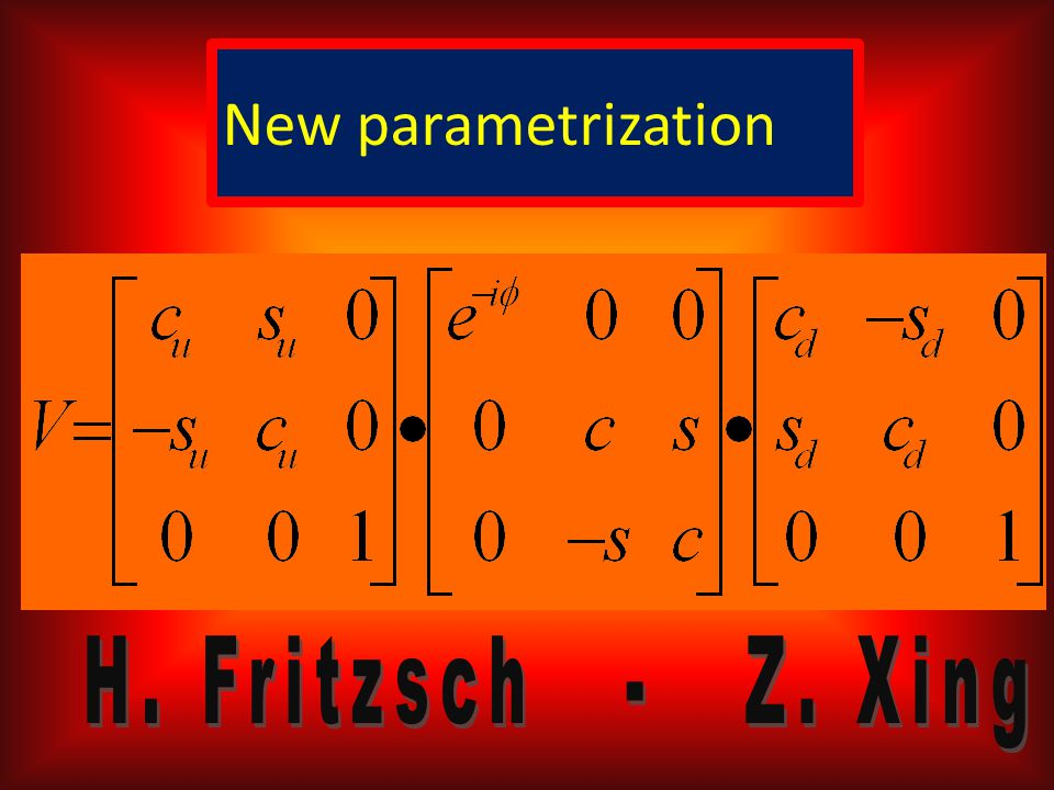 New parametrization: