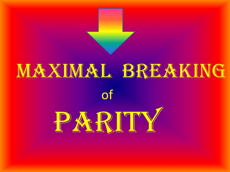 maximal breaking of parity