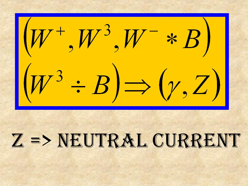 Z => neutral current