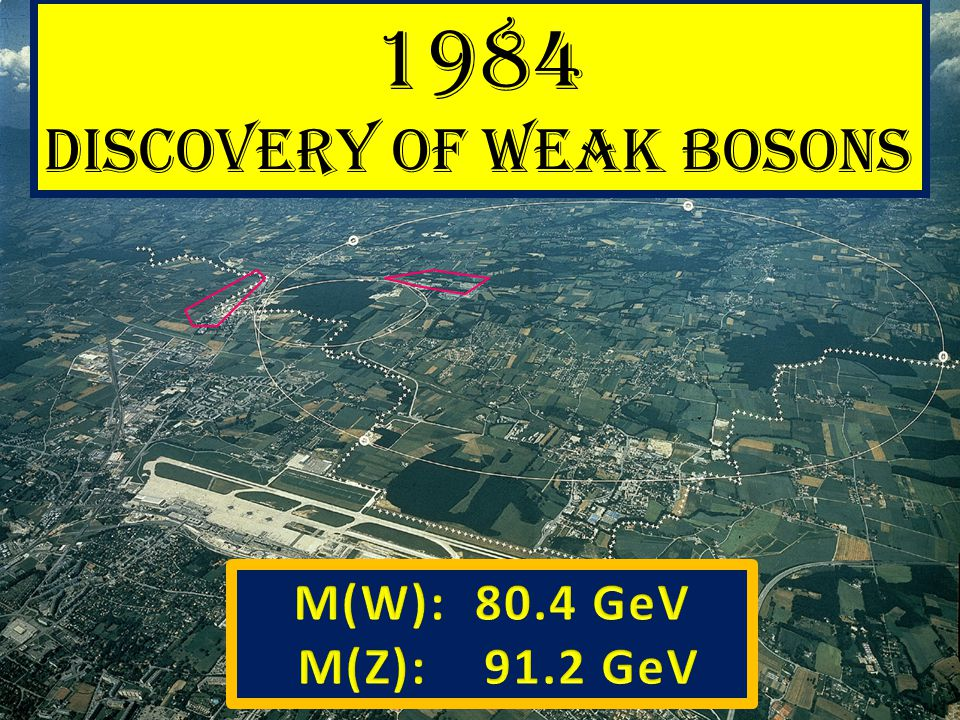 1984 Discovery of weak bosons