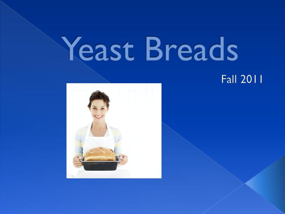 Function of Ingredients  Mixing Methods  Preparing Yeast Breads  Shaping Yeast Breads  Yeast Doughs  Charactersitics