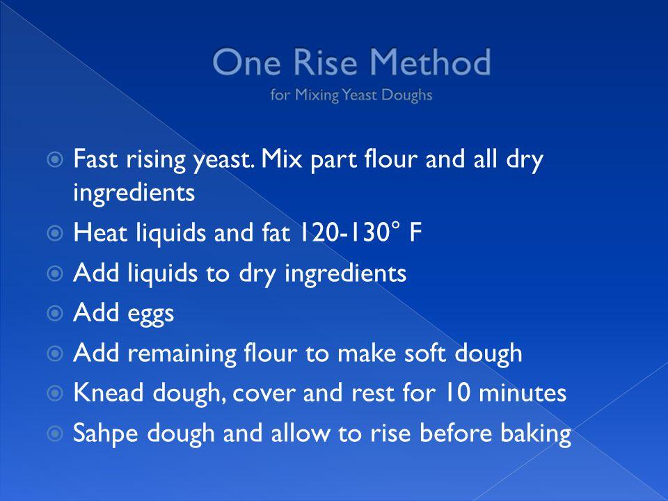  Fast rising yeast.