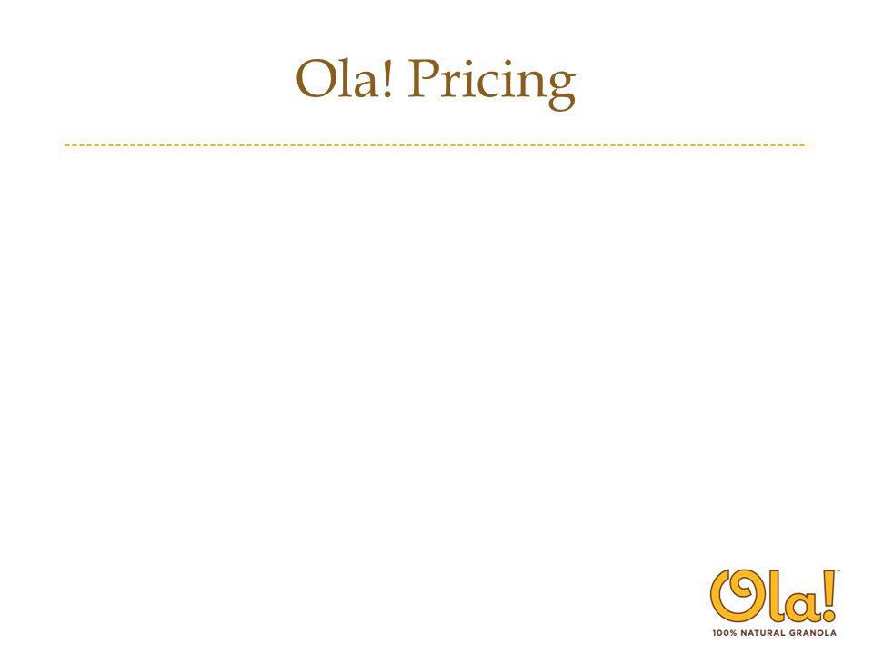 Ola! Pricing