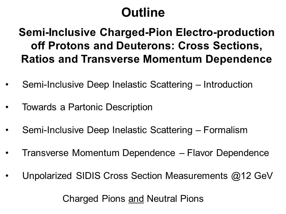 Beyond form factors and quark distributions Generalized Parton and Transverse Momentum Distributions Proton form factors, transverse charge & current densities Structure functions, quark longitudinal momentum & helicity distributions Correlated quark momentum and helicity distributions in transverse space - GPDs Extend longitudinal quark momentum & helicity distributions to transverse momentum distributions - TMDs 2000's 1990's
